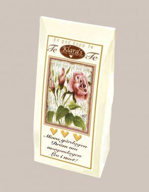 Rosa ros te från Klaras Goda Presenter