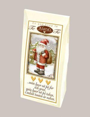Te med jultomte från Klaras