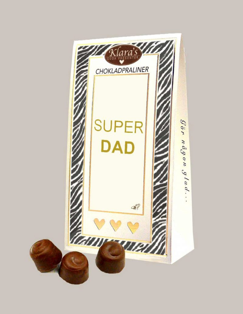 Fars dag present med chokladpraliner