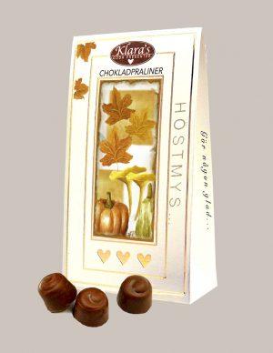 Chokladpraliner för hösten från Klaras Goda Presenter