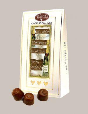 Chokladpraliner champagne från Klaras Goda Presenter