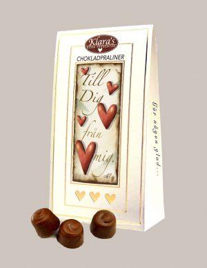 Chokladpraliner med hjärtan från Klaras Goda Presnter