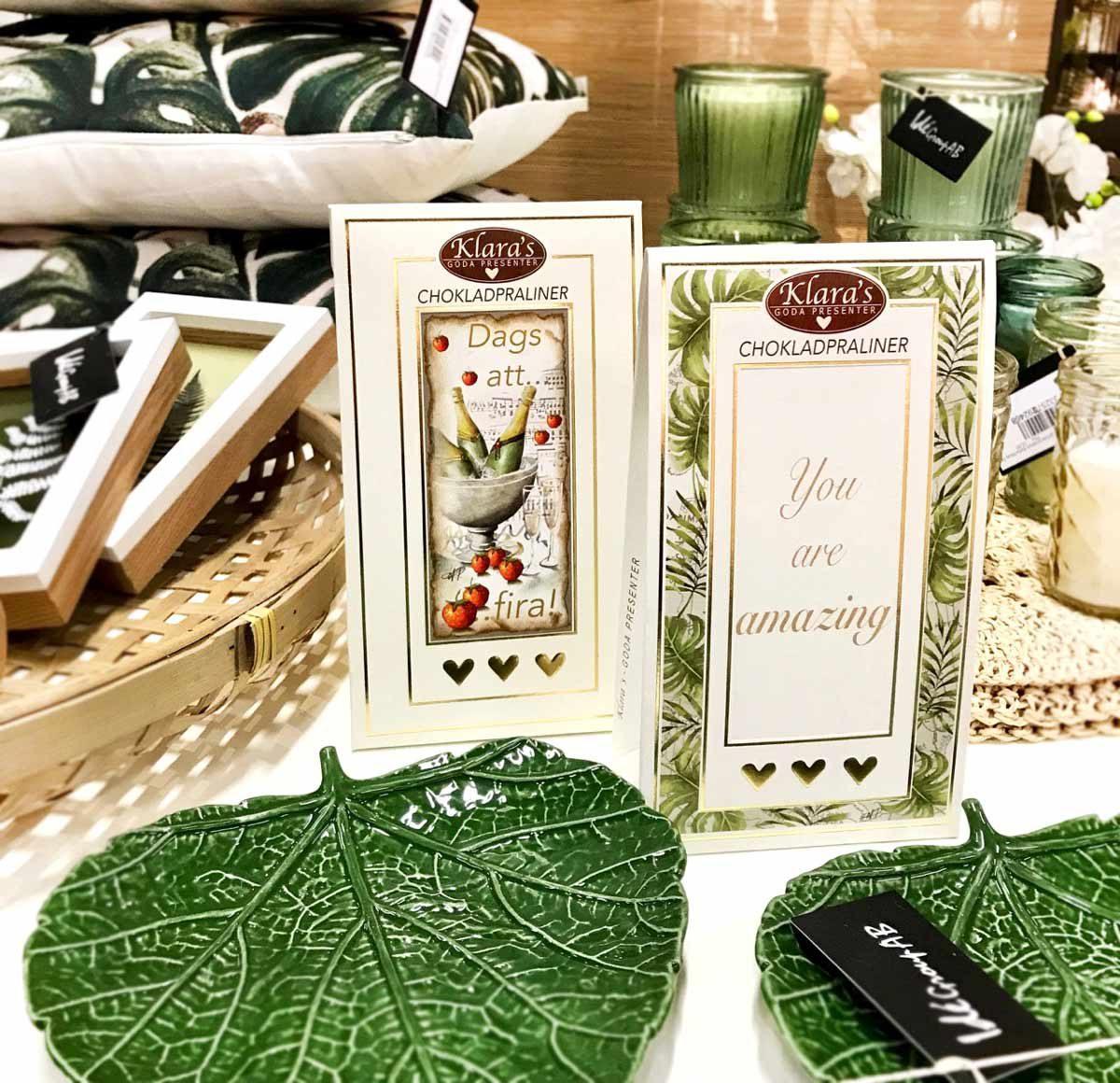 Gröna fat och praliner