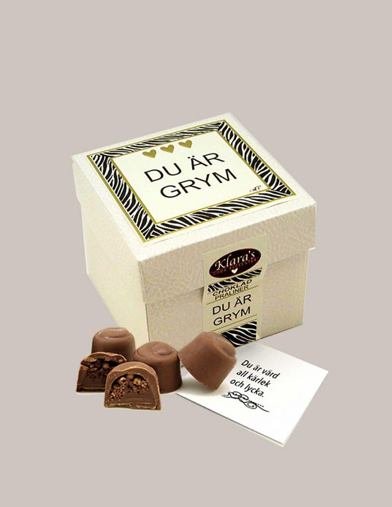 Chokladpraliner i box från Klaras Goda Presenter
